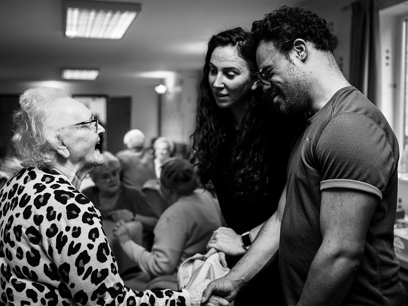New Vibes DJ at residential care home. Photo by Simon Peter Green