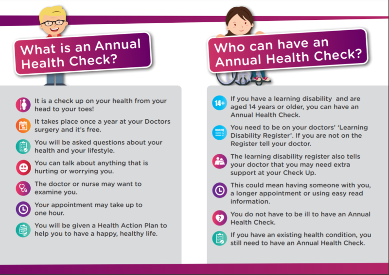 Annual Health Check booklet