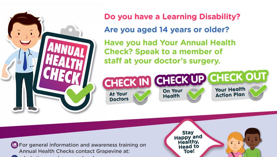 Annual Health Check campaign poster