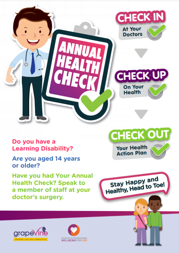 Annual Health Checks campaign leaflet