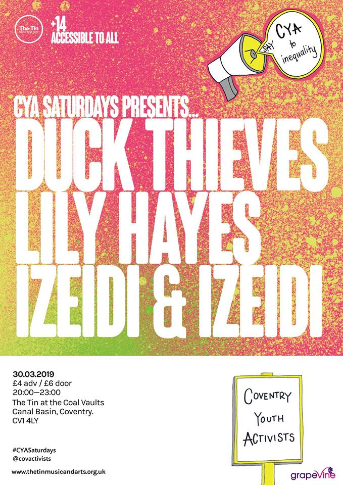 CYA Saturdays Presents gig poster