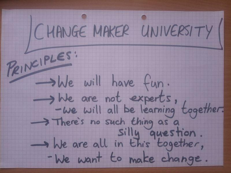 Changemaker University principles