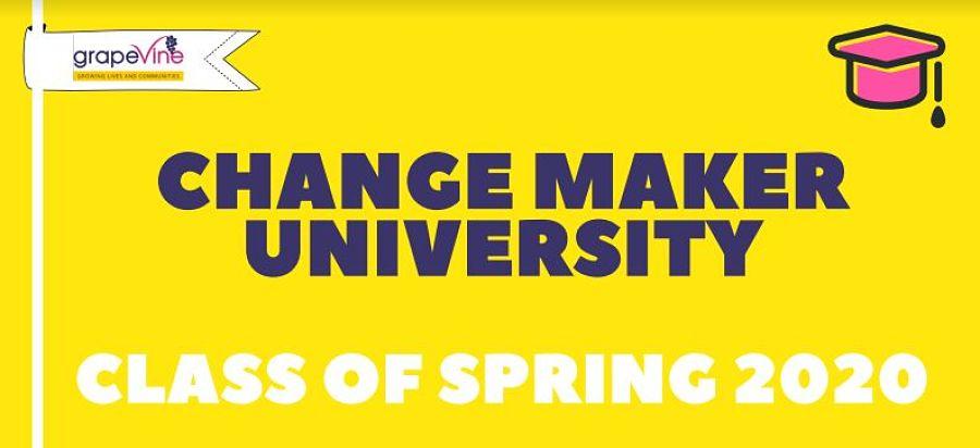 Changemaker University sign