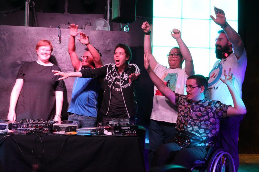 New Vibes DJs on stage