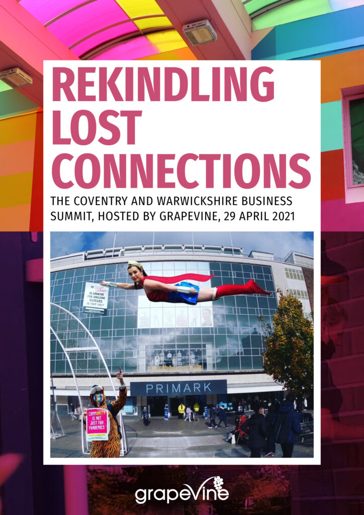 Grapevine Rekindling Lost Connections local business and retailer summit report cover 2021