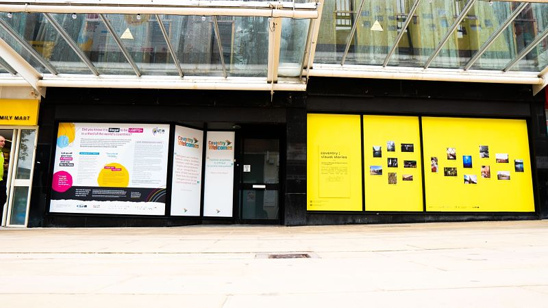 The Coventry Visual Stories exhibition in Hertford Street, Coventry city centre