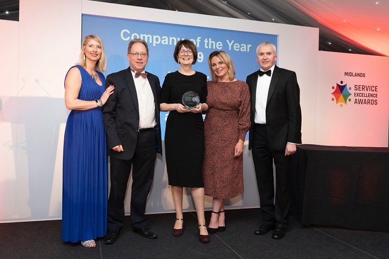 Midlands Service Excellence with award