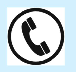 Symbol of a black telephone inside a circle