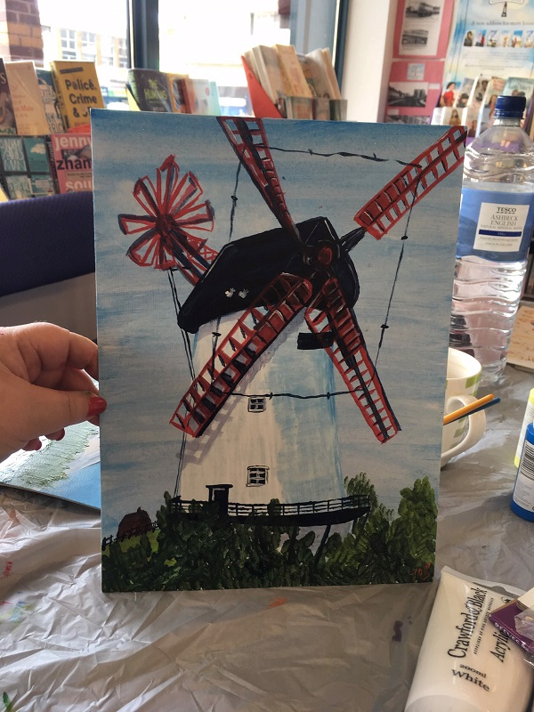 Tracy windmill painting