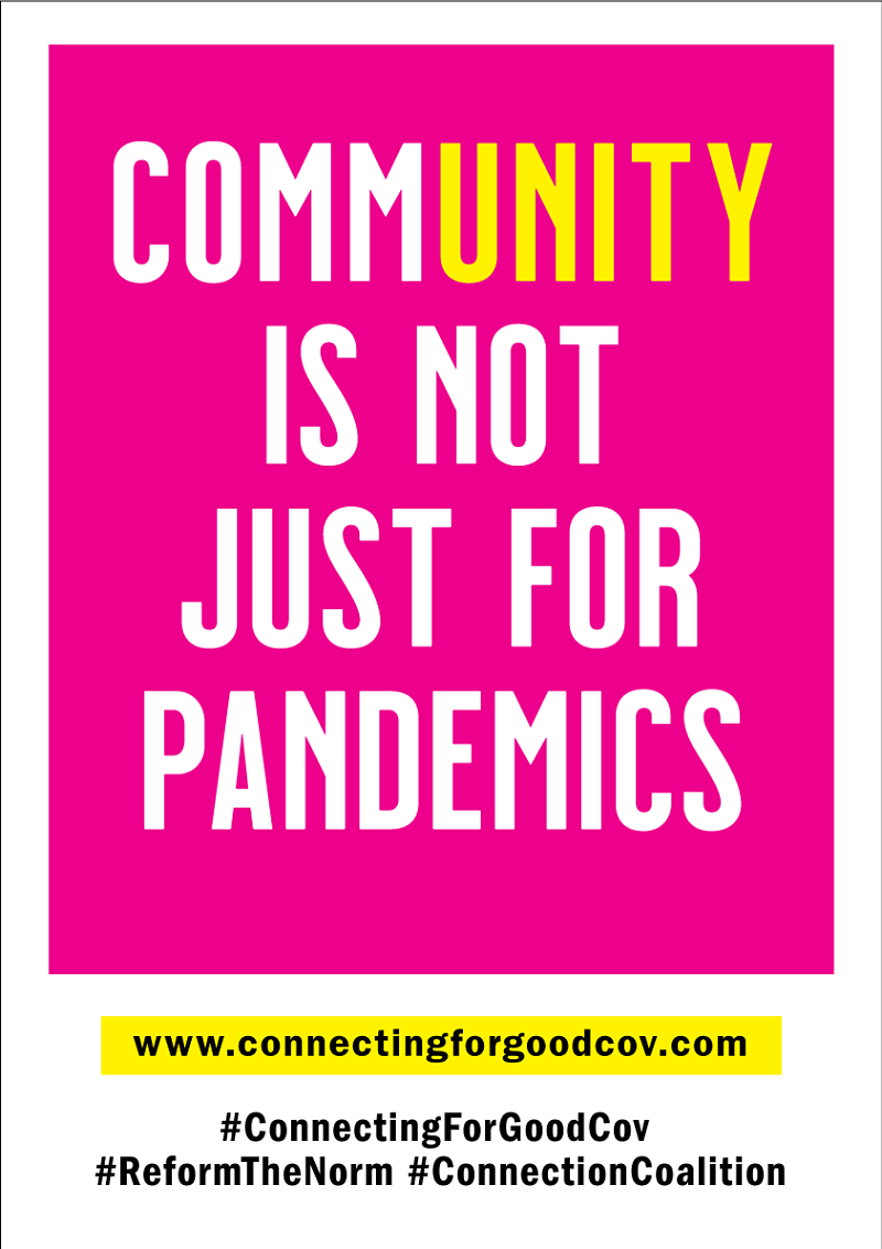 Community is not just for pandemics poster
